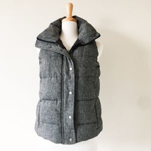 Old Navy Grey Herringbone fleece-lined vest